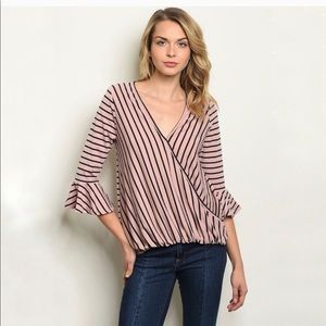 Tops - Striped blouse.